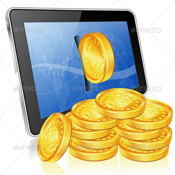 Financial Concept - Make Money on the Internet - Concepts Business