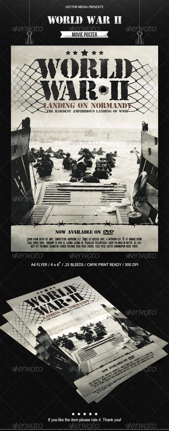 World War II - Movie Poster - Miscellaneous Events