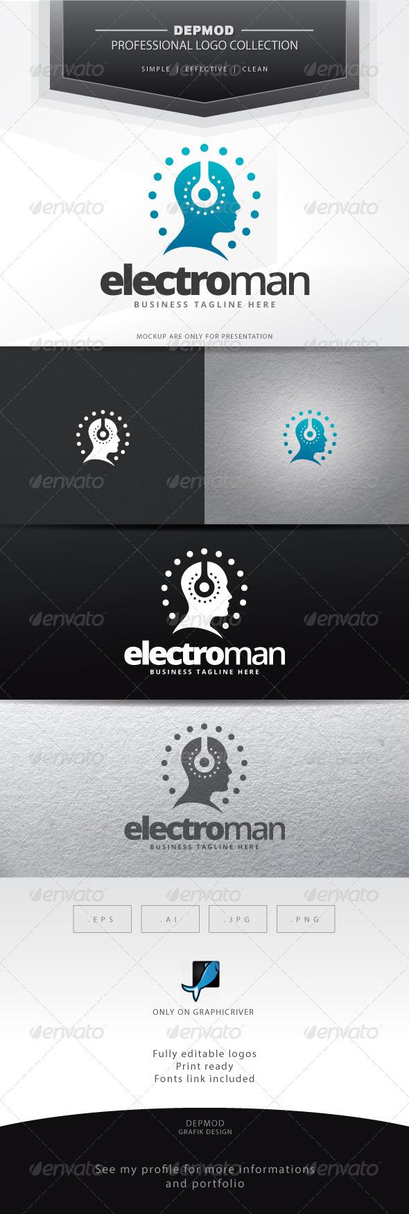 Electro Man Logo - Humans Logo Templates