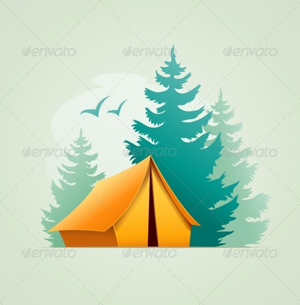 Tent in Forest Camping - Landscapes Nature