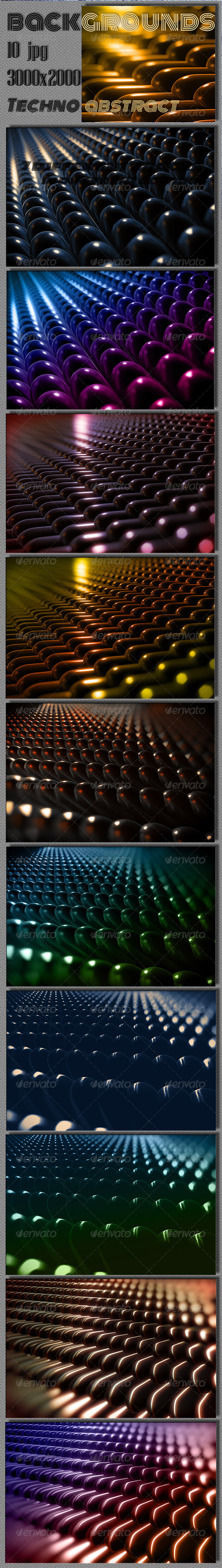 Techno 3D Capsule Backgrounds - Tech / Futuristic Backgrounds