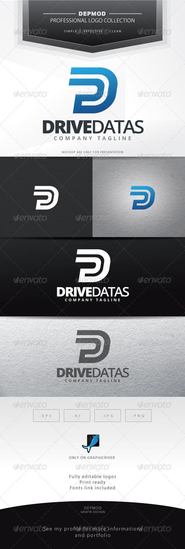 Drive Datas Logo - Letters Logo Templates