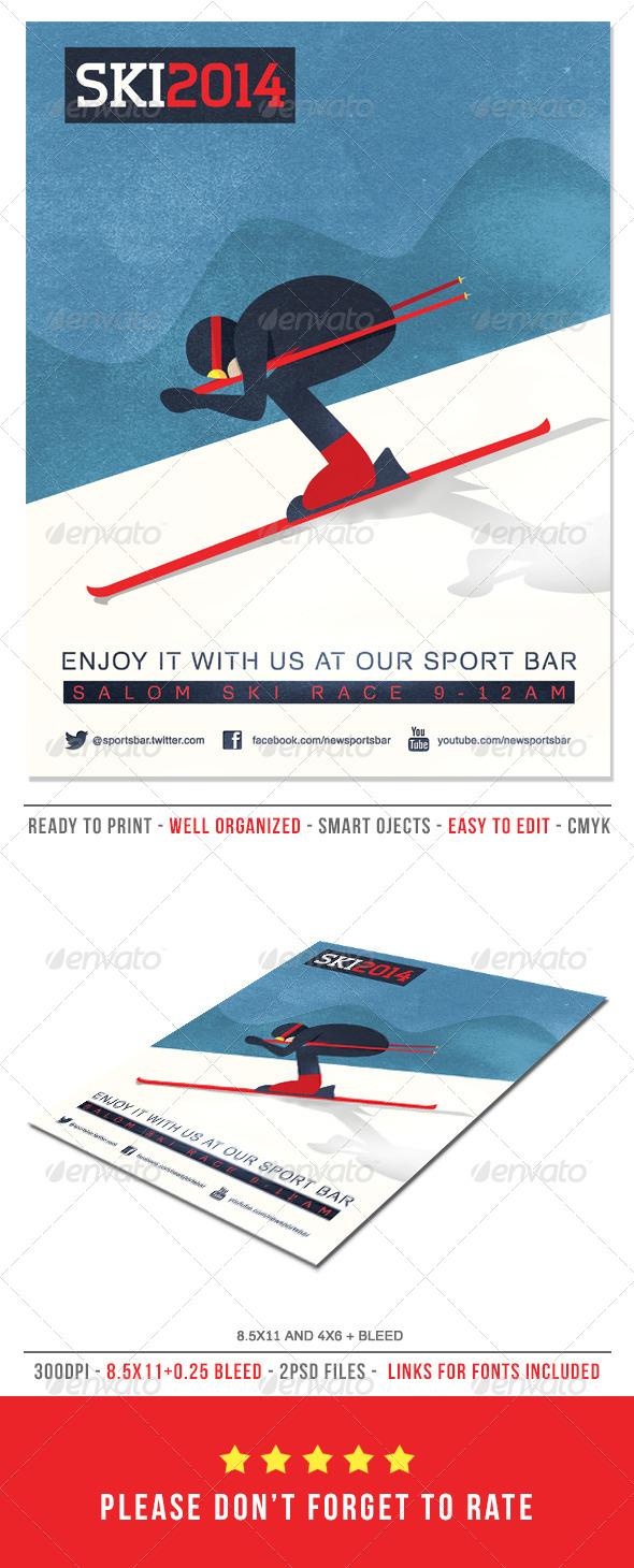 Ski Poster/Flyer - Sports Events