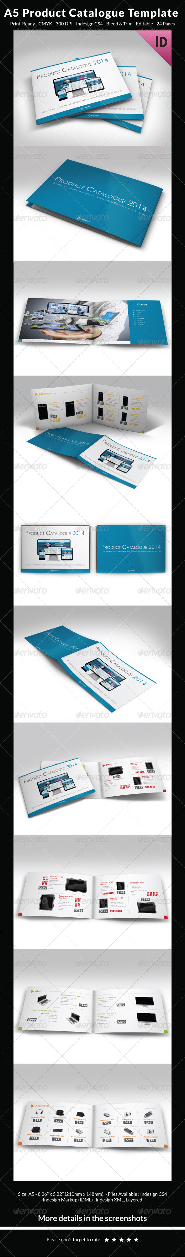 A5 Product Catalogue Template - Catalogs Brochures