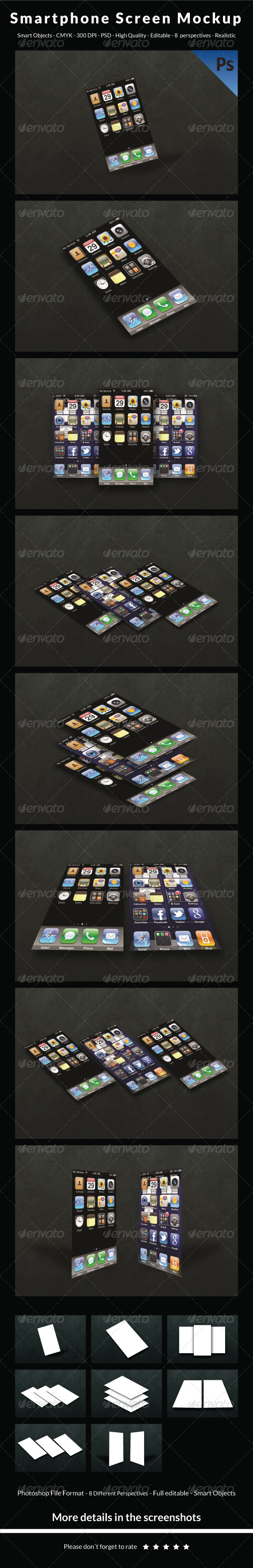 Smartphone Screen Mockup - Mobile Displays