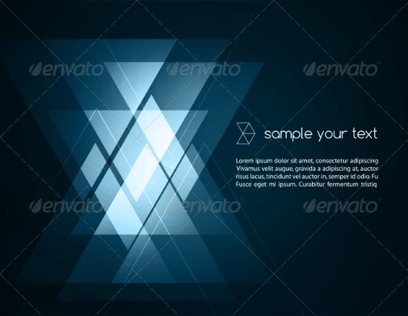 Elegant Geometric Blue Background - Backgrounds Business