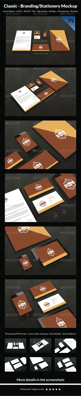 Classic- Branding/Stationery Mockup - Stationery Print