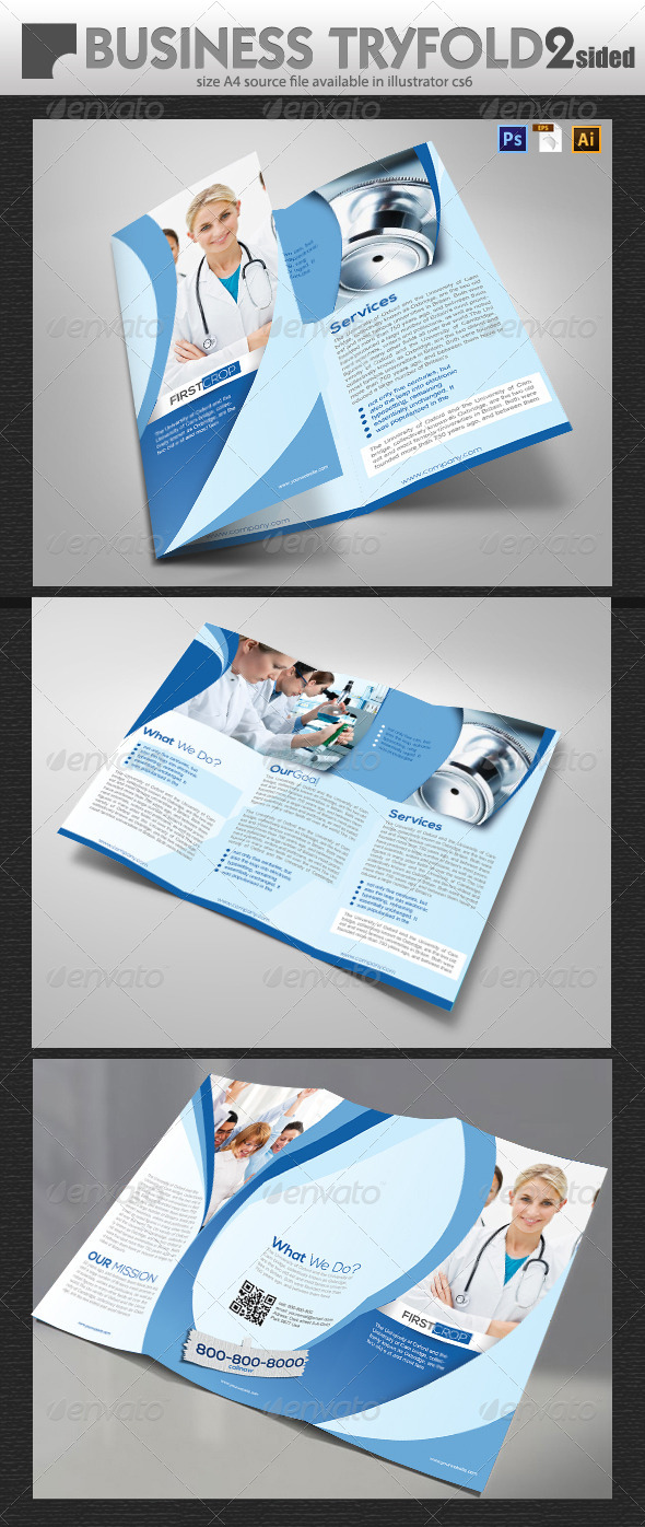 Medical Tri fold Brochure Design  - Brochures Print Templates