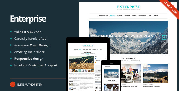 Enterprise – Responsive Magazine, News, Blog