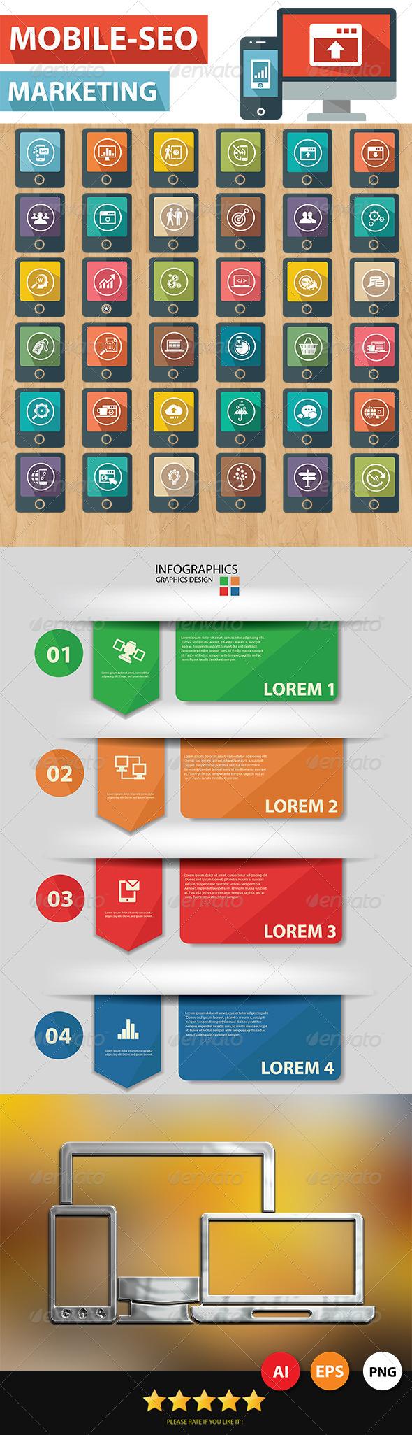 Mobile-SEO Icons - Web Icons