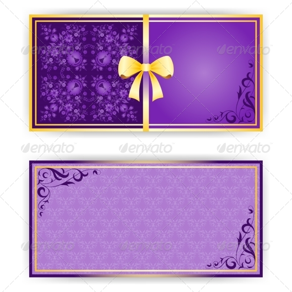 Template for Greeting Card or Invitation - Backgrounds Decorative