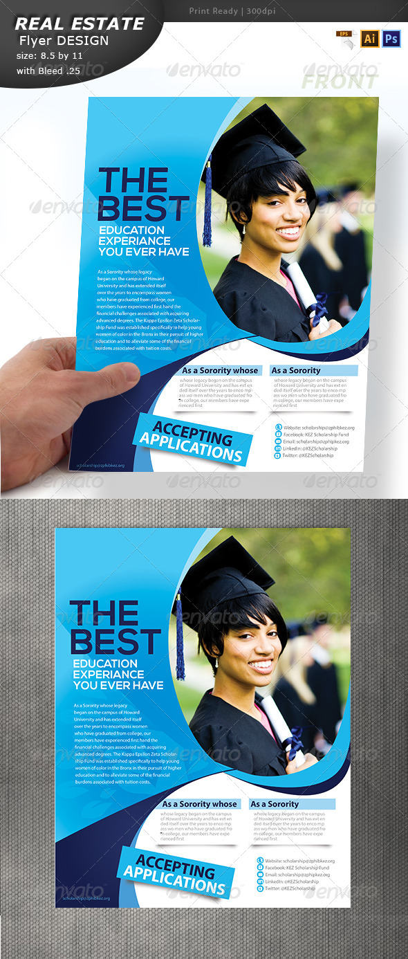 Education Flyer Design  - Flyers Print Templates