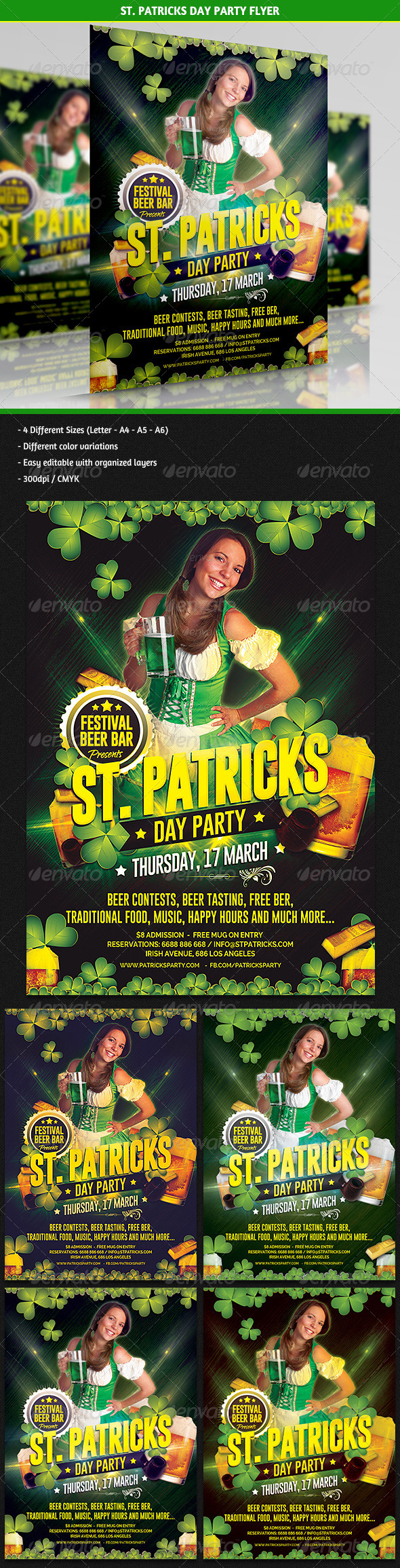 St. Patricks Day Party Flyer - Clubs & Parties Events