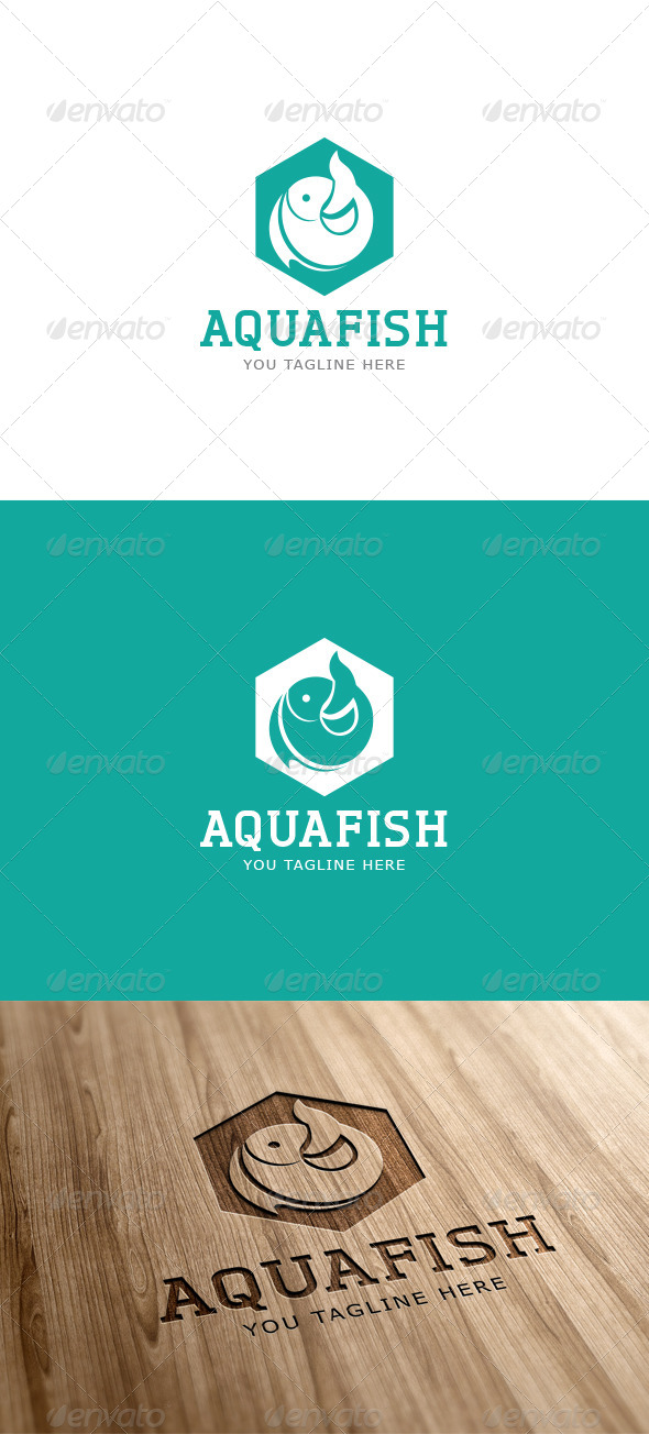 Aqua Fish Logo Template - Vector Abstract