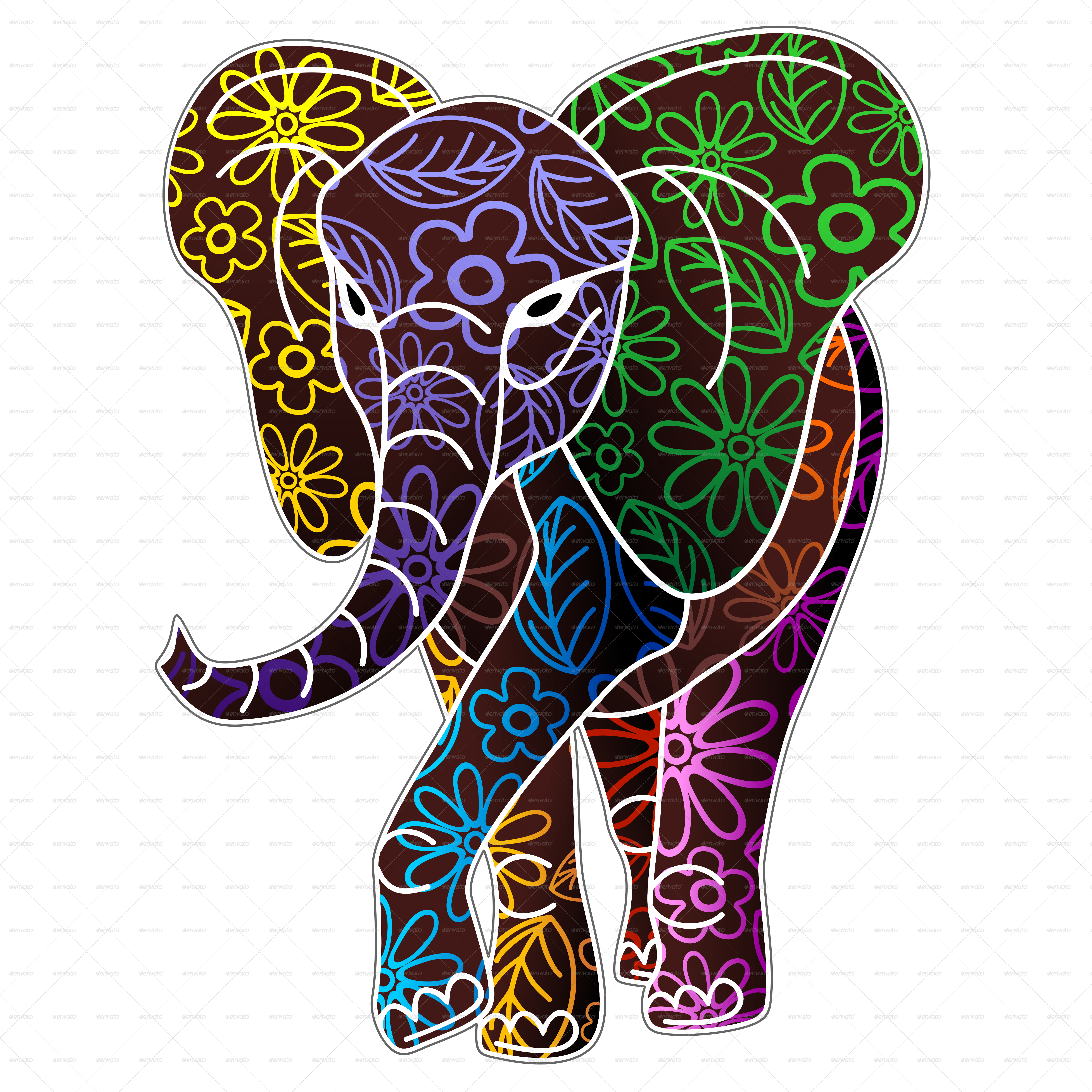 elephant sequin wall hanging painted cotton tradtional tapestry ...