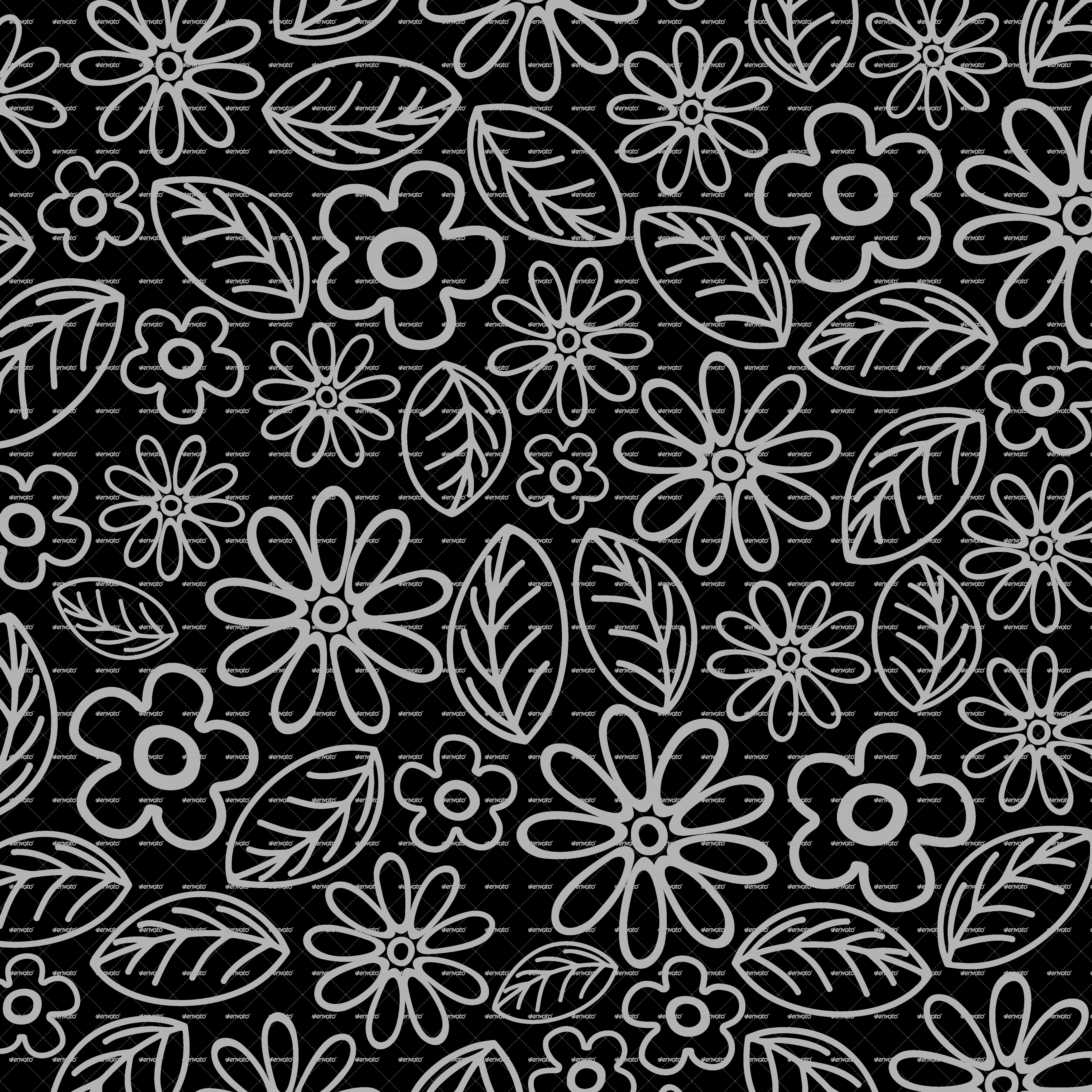 Elephant Floral Batik Art Design By Bluedarkat