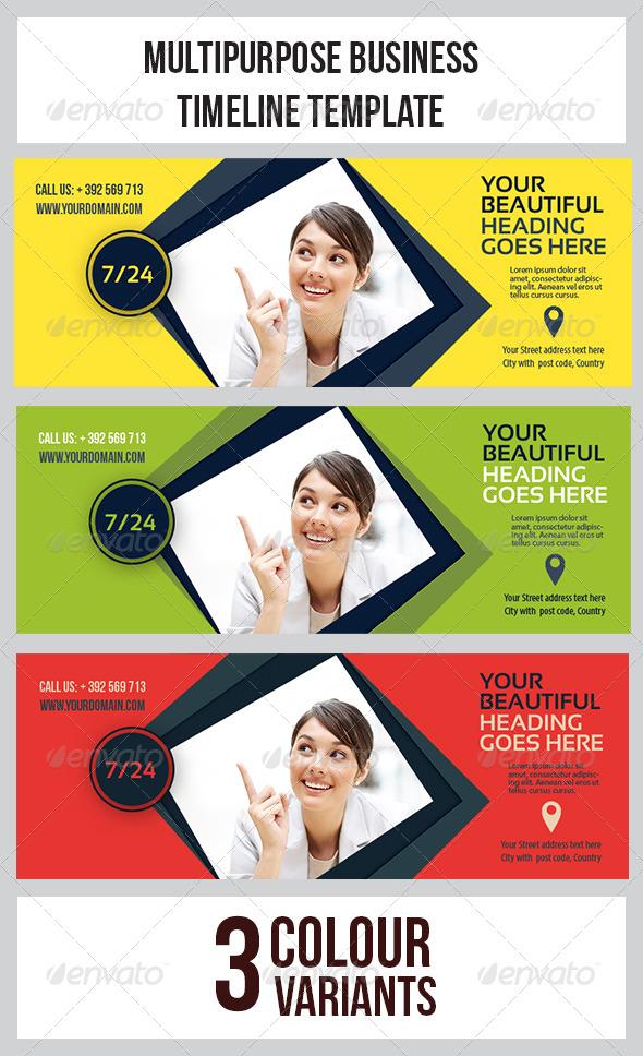 Multipurpose Banner Timeline Template  - Facebook Timeline Covers Social Media