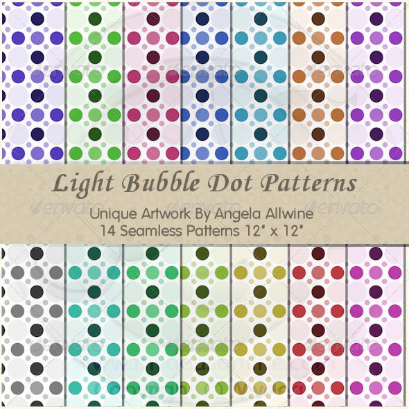 Light Bubble Dots Pattern Set - Patterns Backgrounds