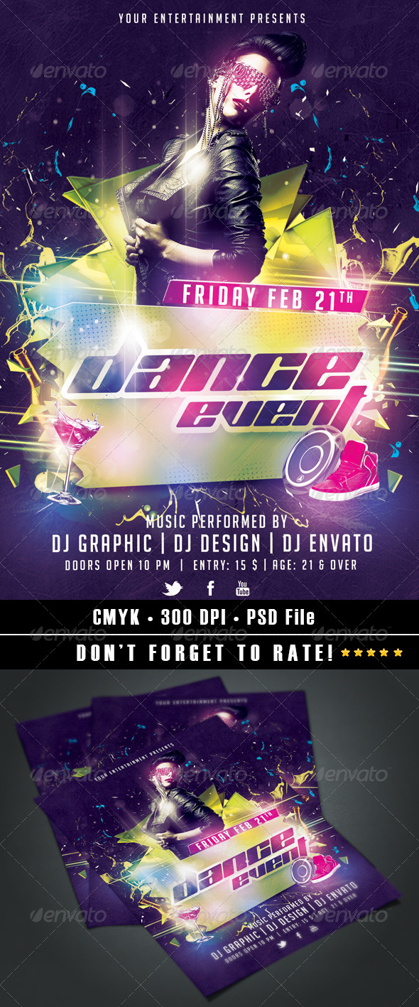 Dance Event Flyer - Clubs & Parties Events