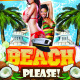Beach Please Party Flyer Template - GraphicRiver Item for Sale