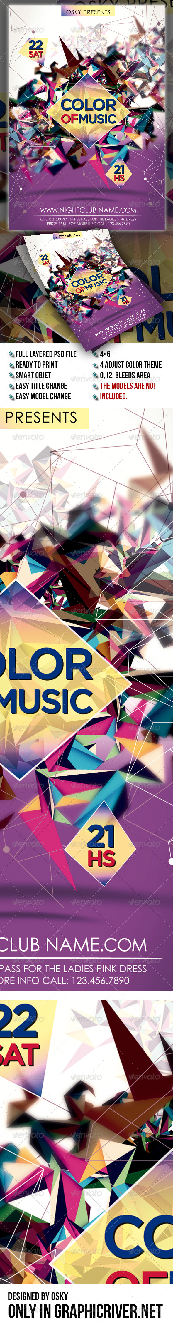 Color Of Music - Events Flyers