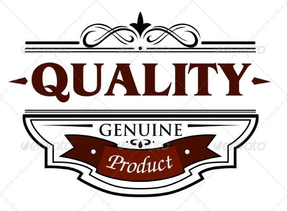 Quality Genuine Product Banner - Decorative Symbols Decorative