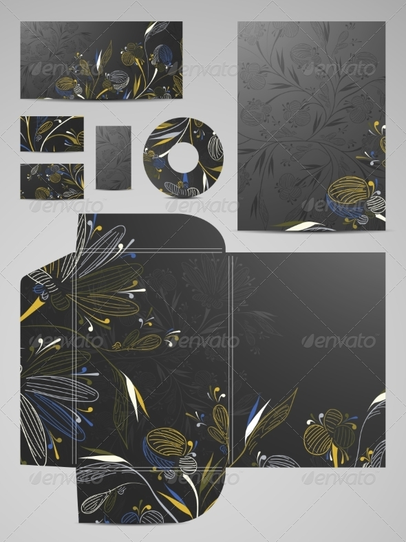 Stationery Set - Abstract Conceptual