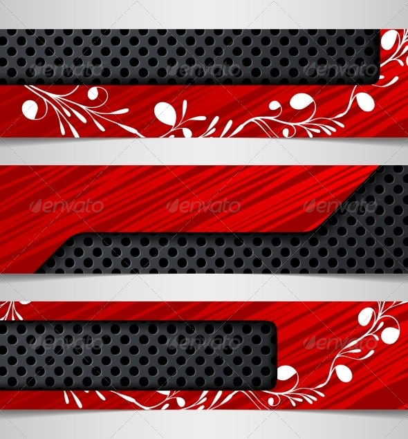Banner with Floral Pattern - Abstract Conceptual