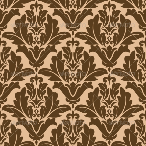 Floral Damask-Style Pattern - Patterns Decorative