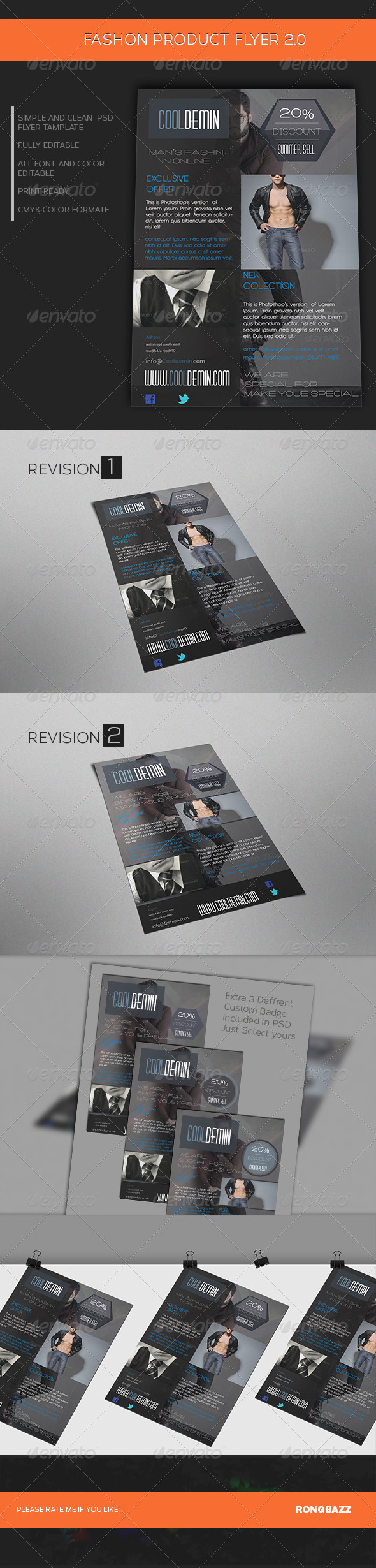 Man's Fashion Product Flyer Template 2.0 - Commerce Flyers