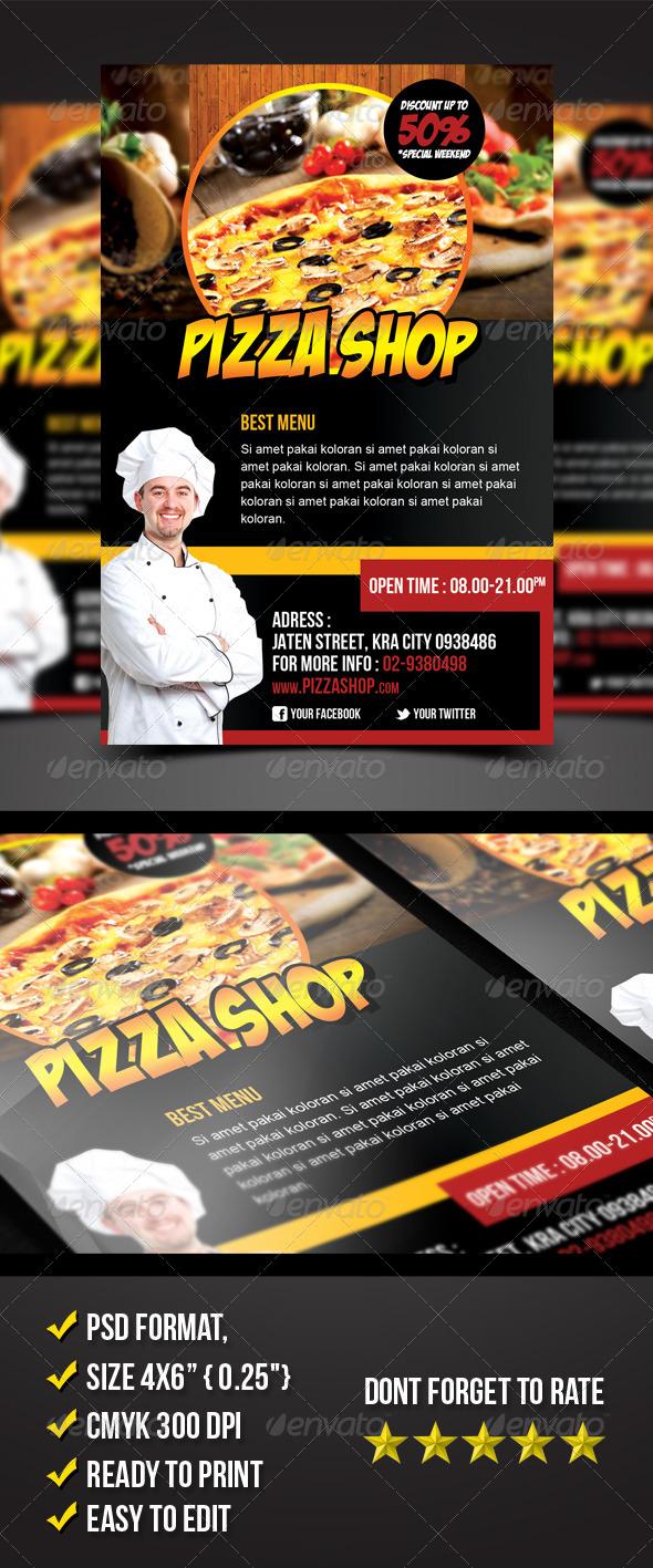 Pizza Shop Flyer - Restaurant Flyers