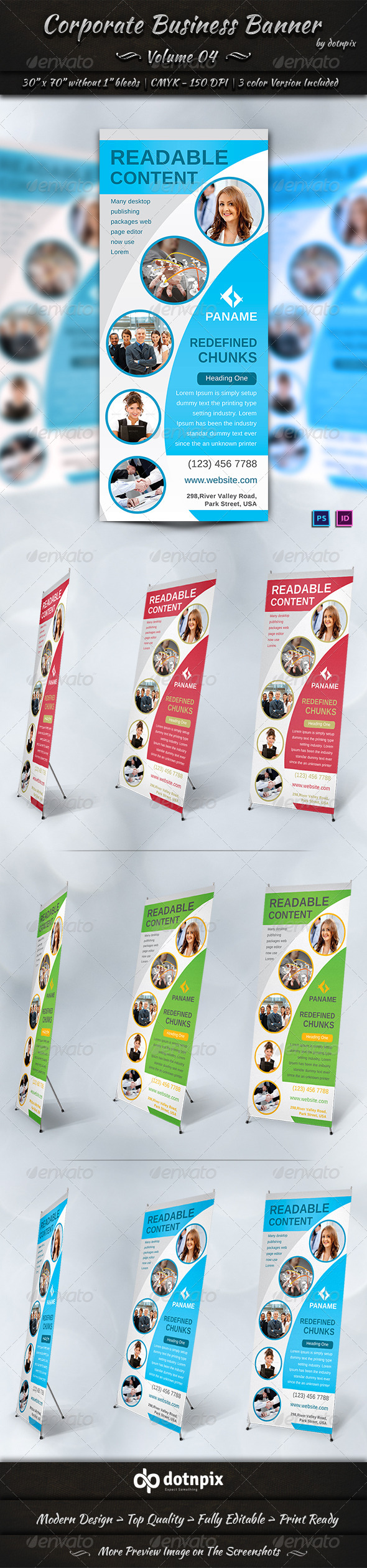 Corporate Business Banner | Volume 4 - Signage Print Templates