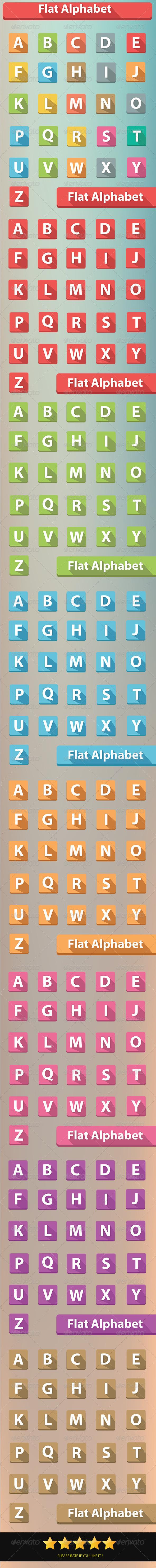 Alphabet Buttons - Characters Vectors