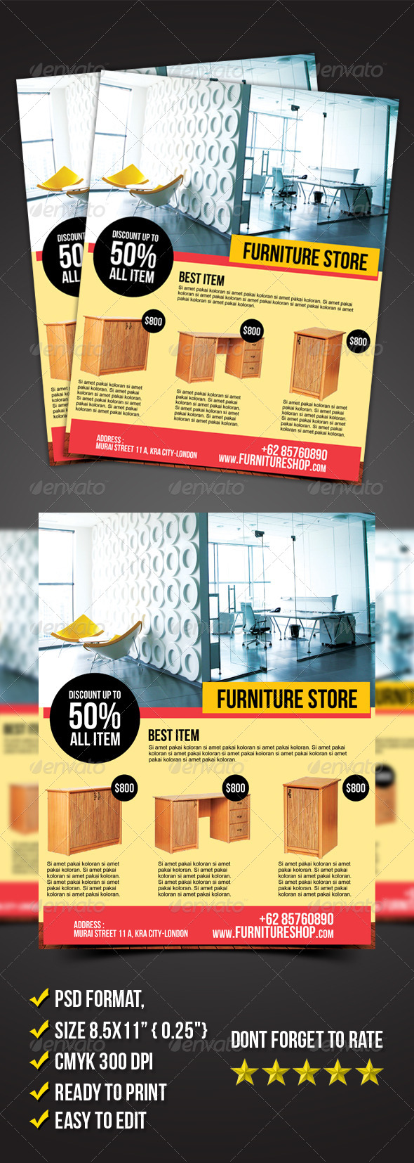 Furniture Store Flyer - Commerce Flyers