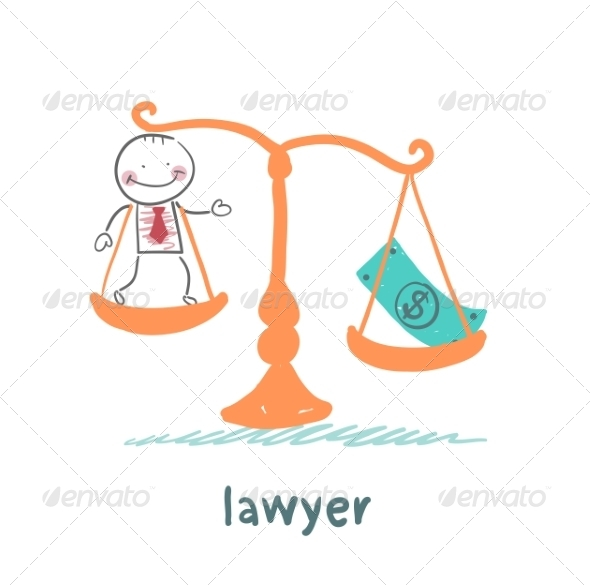 Lawyer is in the Balance with the Money - People Characters