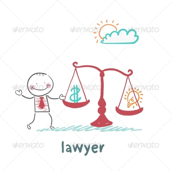 Attorney Weighs in the Balance - People Characters
