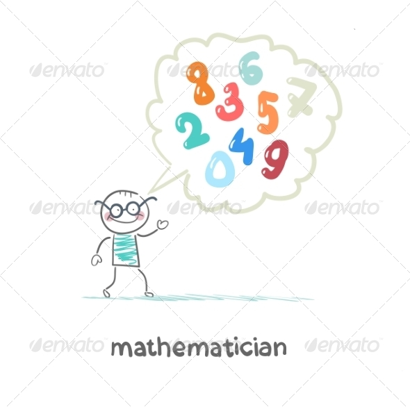 Mathematician Thinks About Numbers - People Characters