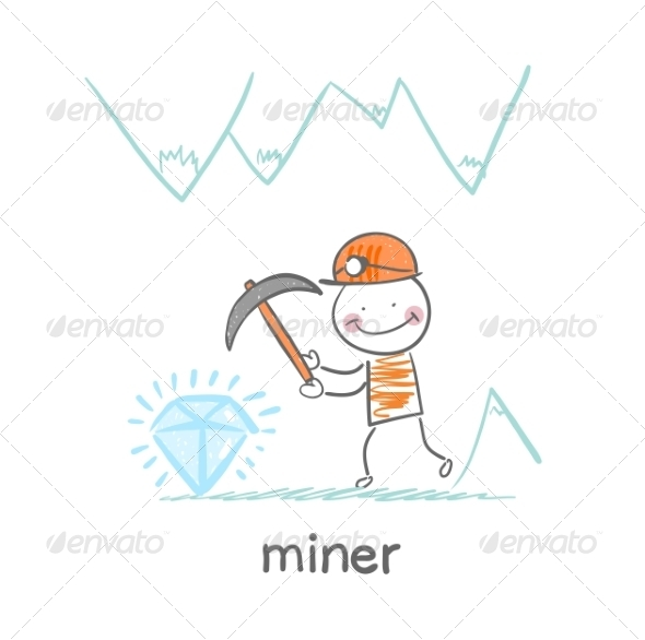 Miner Found a Gem - People Characters