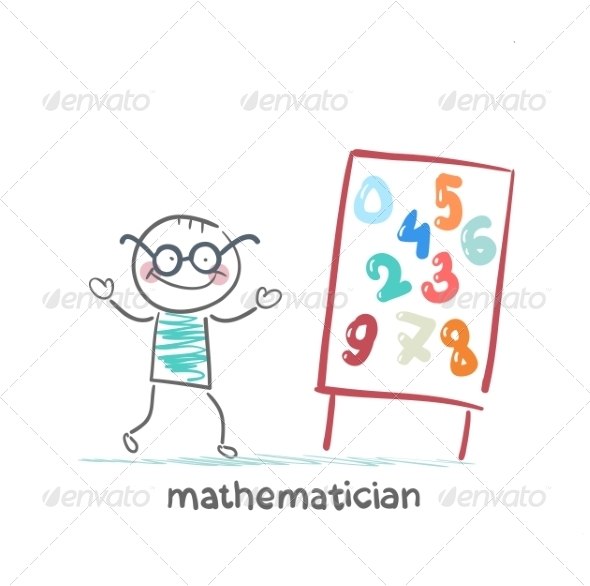 Mathematician Talk About Presentation of Numbers - People Characters