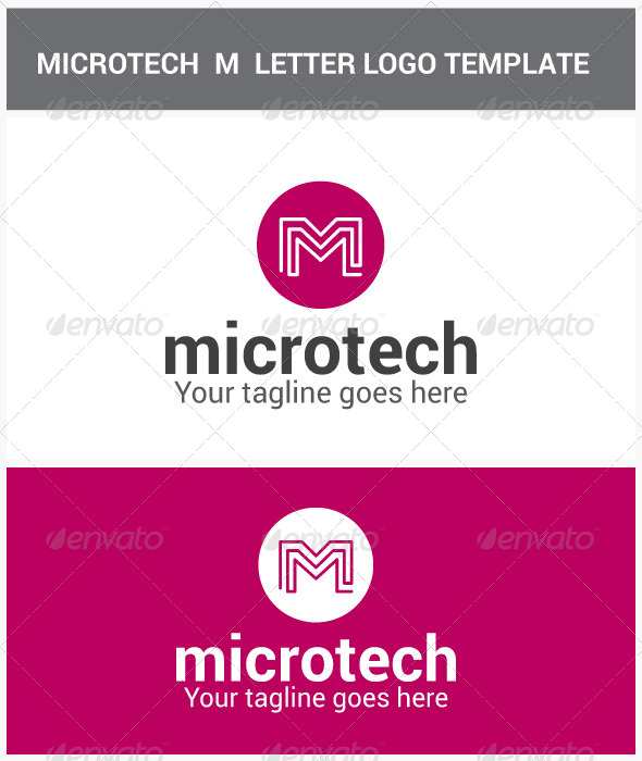 Microtech M Letter Logo - Letters Logo Templates