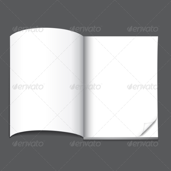 Blank Magazine Page - Man-made Objects Objects