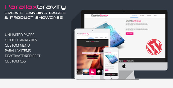 Parallax Gravity - Landing Page Builder by jayc | CodeCanyon