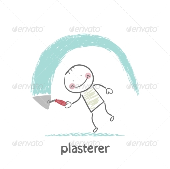 Plasterer Works - People Characters