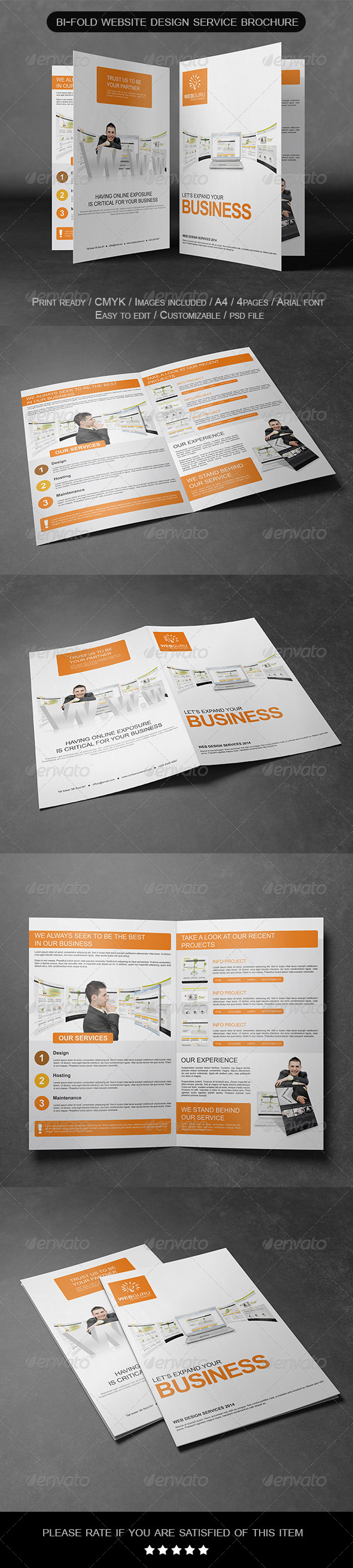 Bi-Fold Website Design Service Brochure - Informational Brochures