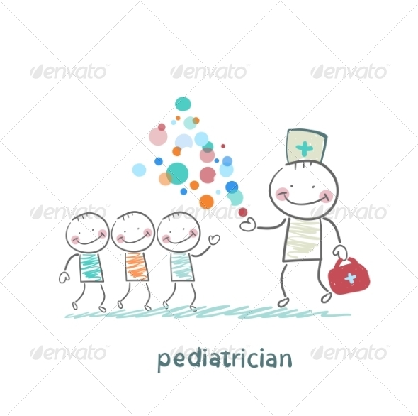 Pediatrician Shows Children Miracle - People Characters