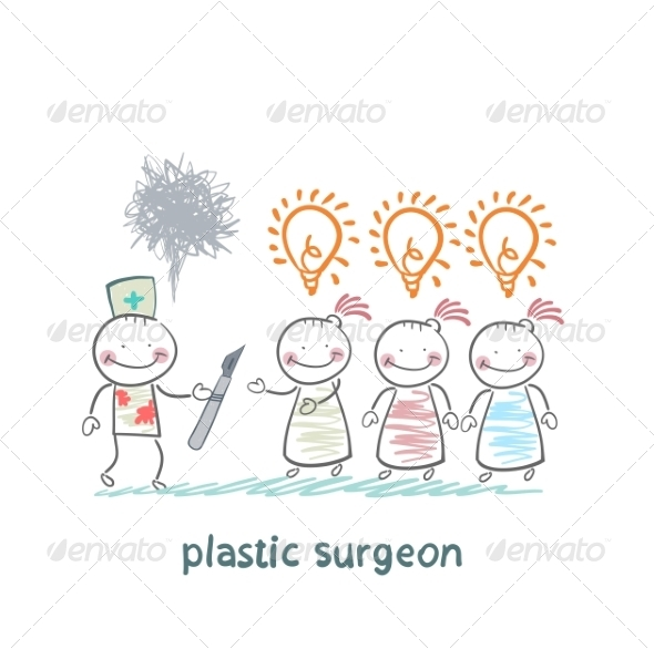 Plastic Surgeon Holding a Scalpel - People Characters