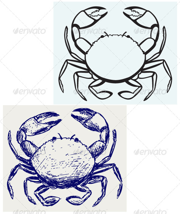 Silhouette Crab - Animals Characters