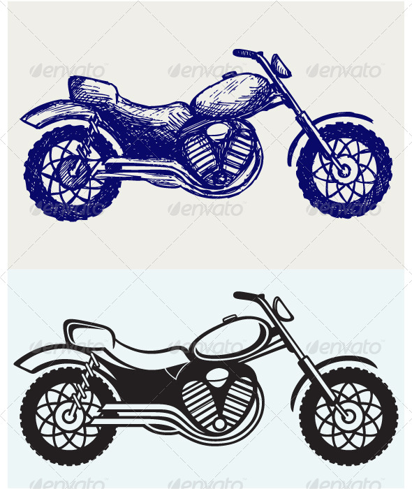 Classic Motorcycle - Sports/Activity Conceptual