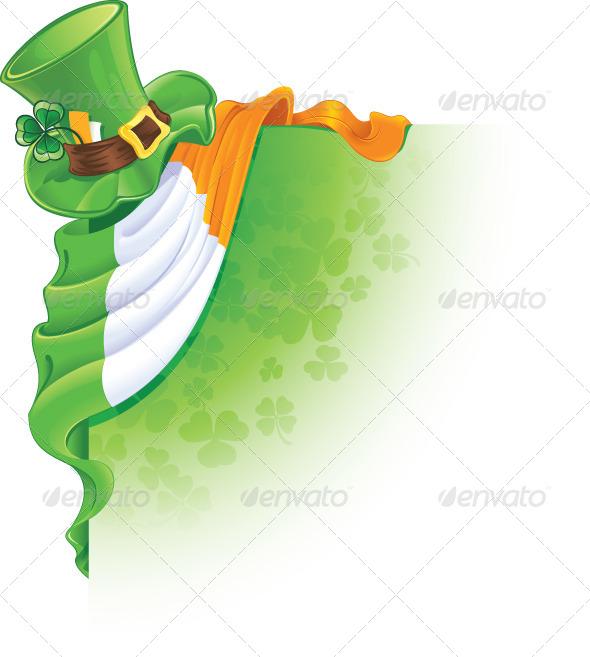 Saint Patrick's Day Corner Element - Seasons/Holidays Conceptual