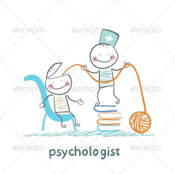 Psychologist on a Stack of Books - People Characters